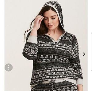 Sleep Fair Isle Fleece Hoodie
